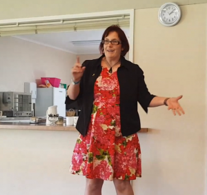 image of kitty fitton at the waikanae wi in march 2019